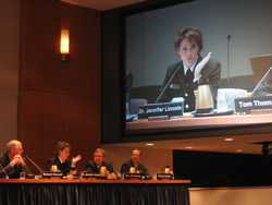 Dr. Jennifer Lincoln provides testimony at NTSB