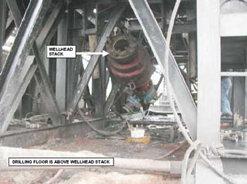 Figure 2. Wellhead stack involved in the incident.