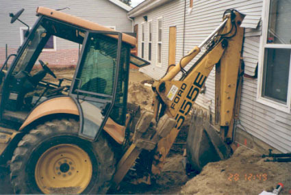 Figure 2 - Backhoe buck that struck the victim