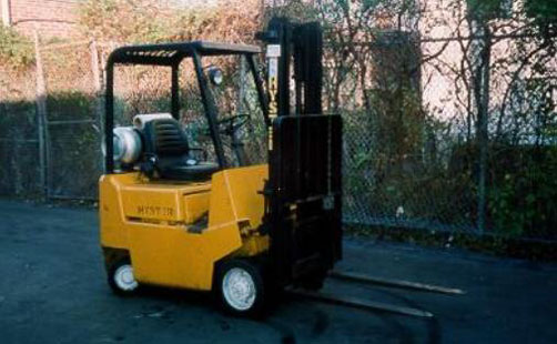 photo of the forklift involved  in the incident