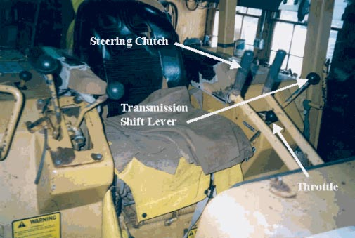 Figure 3 - Bulldozer operator's seat and controls