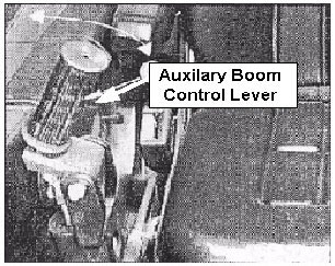 Auxiliary Boom Control Lever.