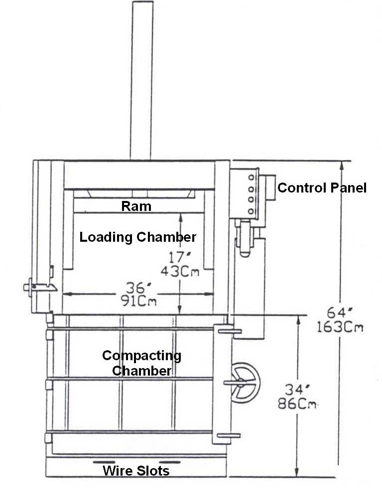 Diagram of baler.