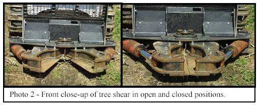 Photo 2 - Front close-up of tree shear in open and closed positions