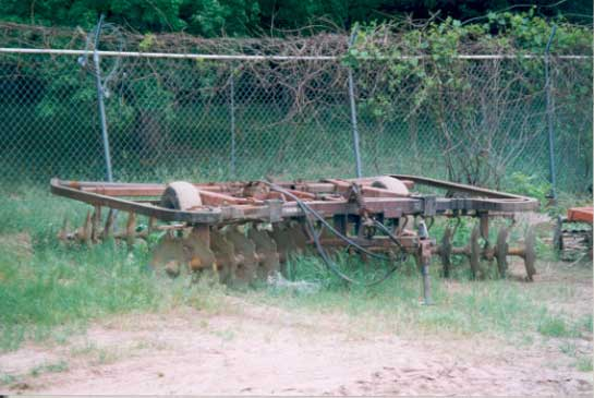 Figure 2 - A wheel harrow similar to the one the tractor was pulling at the time of the incident.