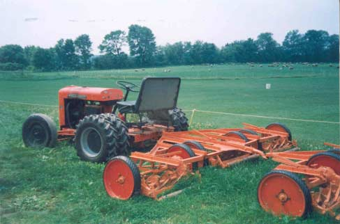 Figure 2 - Tractor and gang mowers