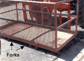 Figure 2. Location of Forklift Forks
