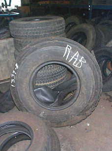 Photo 1.  Tire similar in size and appearance.
