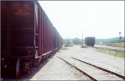 View of the Rail Spur, the Five-Car Cut, and the Tractor