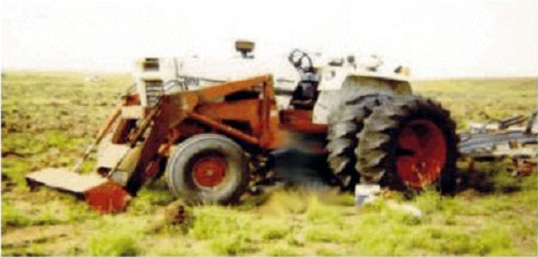 photo of the tractor the victim was operating