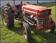 tractor similar to the one used by the rancher