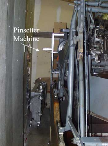Figure 1. Walkway between pinsetter machine and wall.