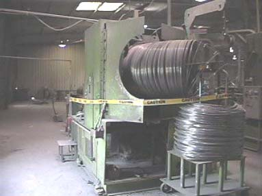 View of the wire pulling machine and the wire holding device.