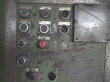 View of the machine control panel