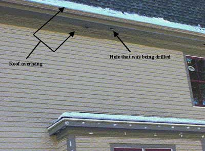 Figure 2 - Roof overhang