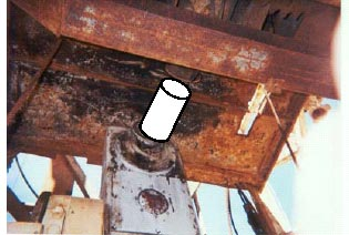 Figure 4.  Photo shows the prior setup without the drive shaft attached.