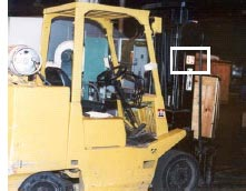 Photo showing another view of the forklift used in the incident
