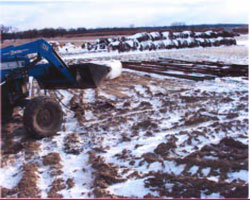 Figure 3. Ground conditions and moved tractor after the incident