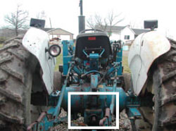 Figure 9. Exposed PTO shaft