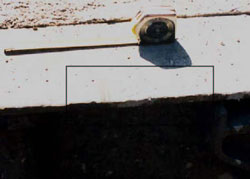 Figure 6. Chain or binder marks on trailer