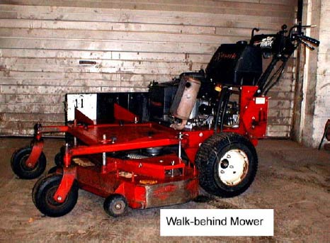 Figure 1 Walk-behind mower