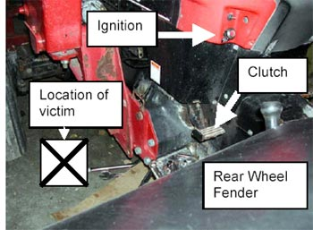 Figure 1 - Possible position of victim