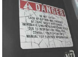 Photo 2 - Silo confined space warning sign