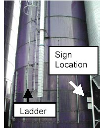 Photo 3 - Location of confined space warningn sign