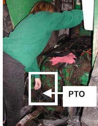Figure 6 - Reaching for PTO lever