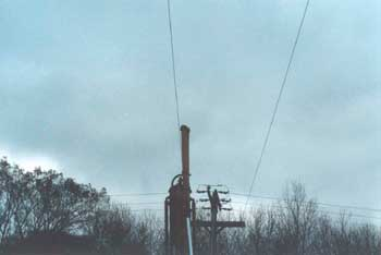 Figure 5. Extended boom and power line.