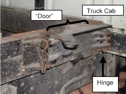 Figure 4.  Rail door in closed, pinned position.