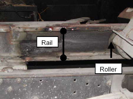 Figure 5.  Close-up of roller, rail.
