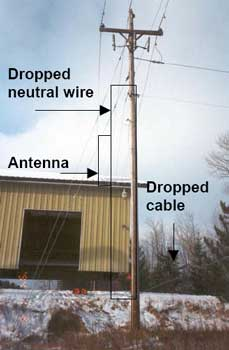 Figure 7. Building position and dropped utility lines