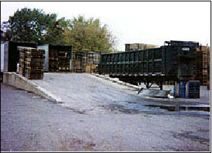 Front of Loading Dock Showing Entrance Ramp