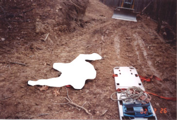 Figure 3.  This is where the victim was found lying in the road.