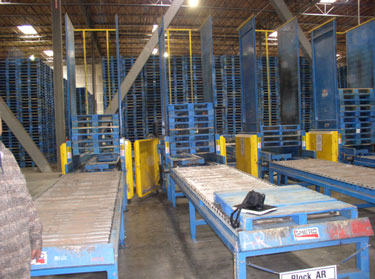 Exhibit #3. View of the pallet stacker involved in the incident.