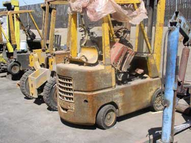 Exhibit #1. View of a forklift similar to the one involved in the incident.