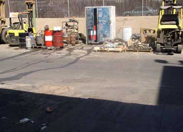 Exhibit #2. View of the area where in the maintenance yard where the incident took place.