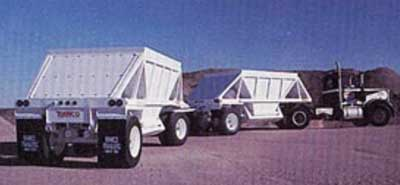 Exhibit #2. A picture of a bottom-dump trailer similar to the one involved in the incident.