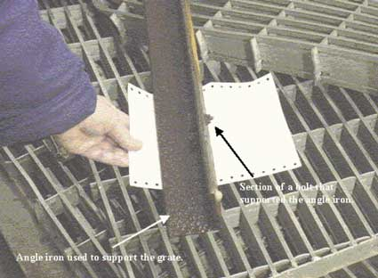 Figure 3 - Section of the angle iron that supported the grate