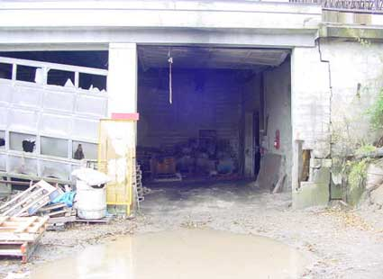 Figure 3 - Garage where the front end loader was parked