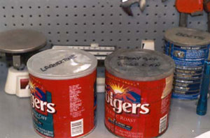 Figure 12. Containers used at Company B for cleaning spray gun parts.