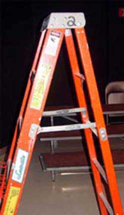 Figure 2. Ladder involved in fall.
