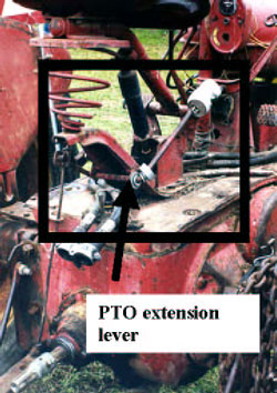 Figure 5. Owner-modified PTO extension lever