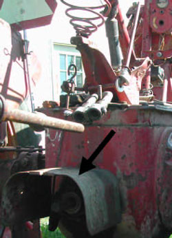 Figure 7. PTO Master shield in place after incident