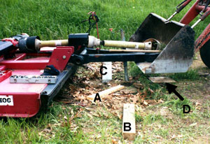 Figure 3. Wood used for mower support