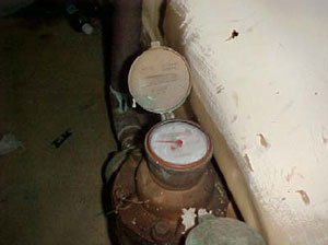 Figure 2. Water meter at floor level