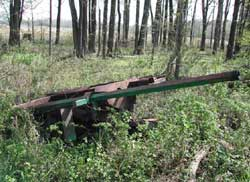 Figure 2. Salvage flail mower in woodlot.