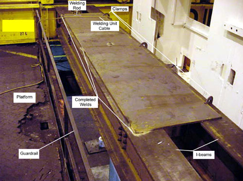 Figure 2. Steel Plate on I-beams.