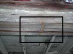 Figure 7. Mark on beam made by muffler.